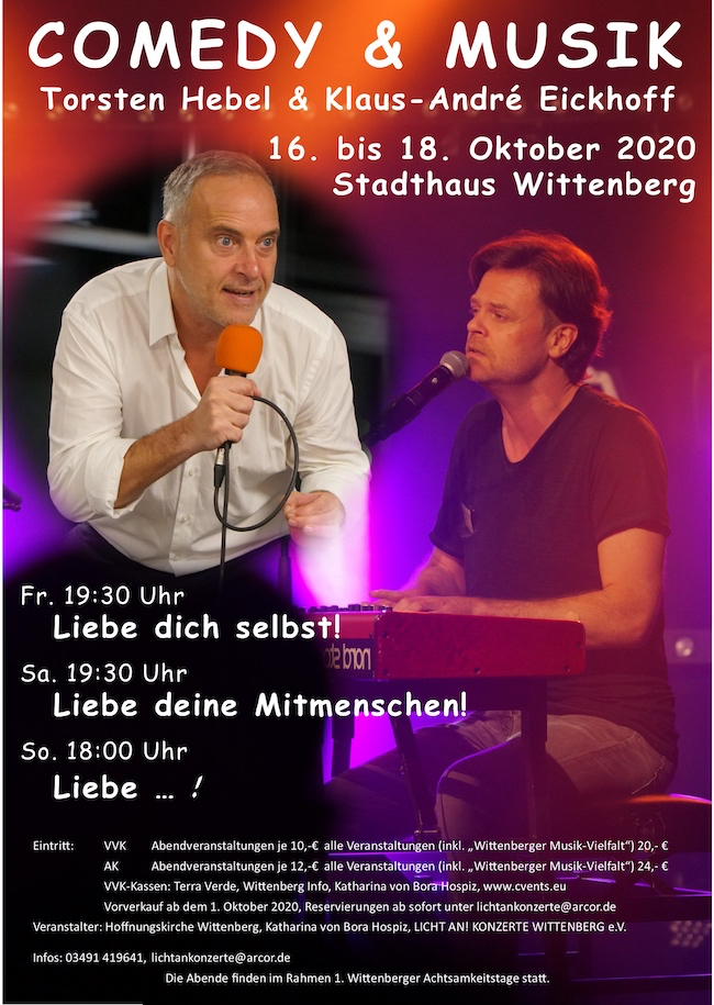 "Comedy & Musik ""Liebe dich selbst"""