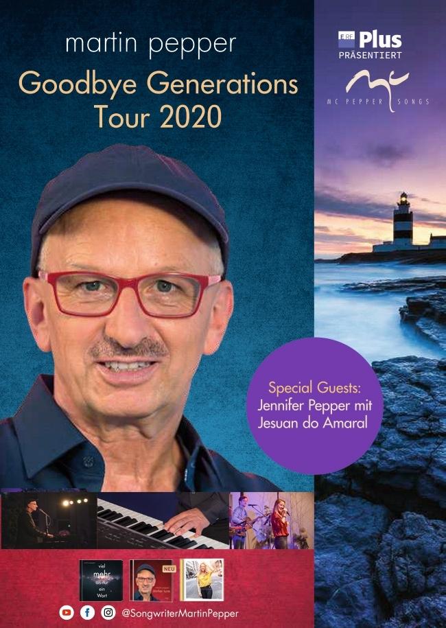 Martin Pepper Trio Goodbye Generations Tour