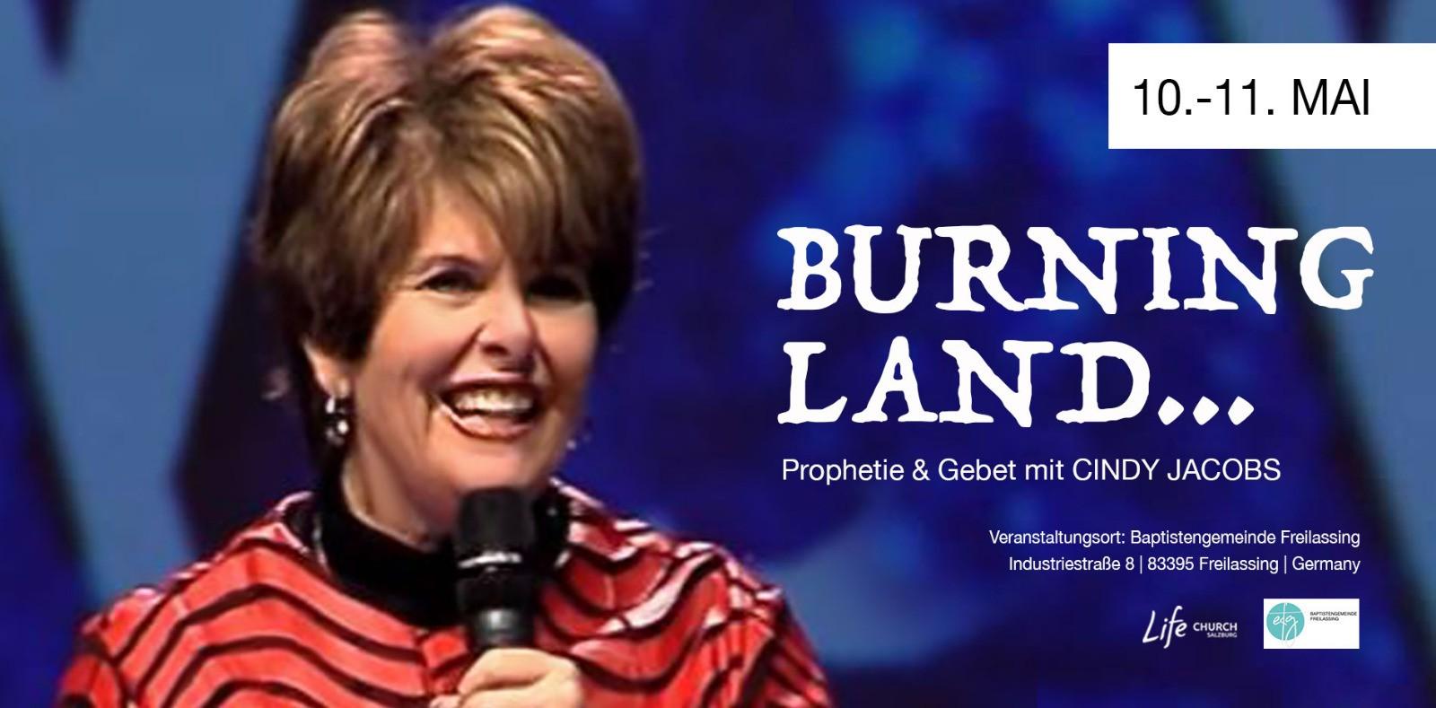 BURNING LAND mit Cindy Jacobs