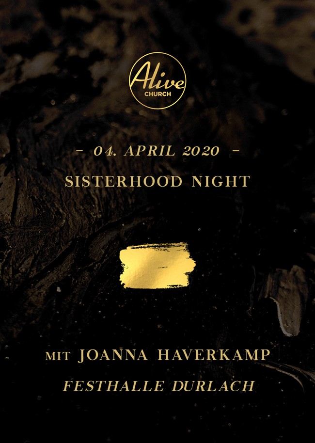 Sisterhood Night Karlsruhe mit Joanna Haverkamp