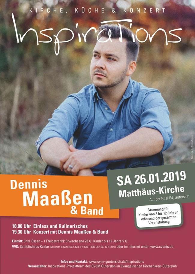 Inspirations 2019 - mit Dennis Maaßen und Band