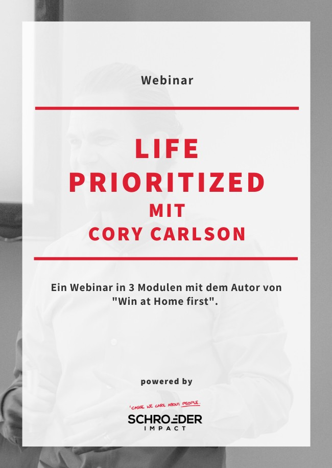 Life Prioritized  mit Cory Carlson